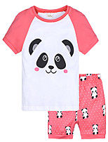 cheap -Toddler Girls' Print Short Sleeve Clothing Set