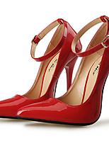 economico -Per donna Scarpe PU (Poliuretano) Autunno inverno Decolleté Tacchi A stiletto Appuntite Fibbia Nero / Rosso / Matrimonio / Serata e festa