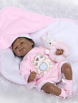 Недорогие -NPKCOLLECTION Куклы реборн Дети 18 дюймовый Искусственная имплантация Коричневые глаза Детские Универсальные Подарок
