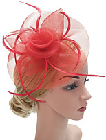 cheap -Women's Vintage / Elegant Hair Clip / Fascinator - Solid Colored Mesh