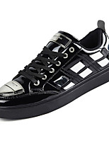 cheap -Men's Patent Leather Summer Comfort Sneakers Black / Silver / Red