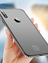 abordables -Coque Pour Apple iPhone X / iPhone 8 Strass Coque Brillant Flexible TPU pour iPhone X / iPhone 8 Plus / iPhone 8