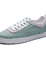 cheap -Men's Light Soles Canvas Fall Sneakers White / Black / Green
