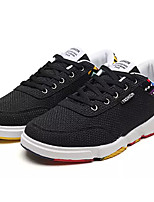 cheap -Men's Linen Spring &  Fall Comfort Sneakers Color Block White / Black / Beige / Slogan