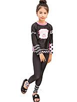 cheap -SBART Girls' Dive Skin Suit UV Sun Protection, Anti-Eradiation, Wearable Chinlon / Elastane Long Sleeve Swimwear Beach Wear Top / Bottoms Swimming / Diving / Snorkeling