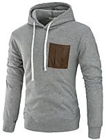 cheap -Men's Basic Hoodie - Color Block
