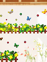 cheap -Decorative Wall Stickers - Plane Wall Stickers Floral / Botanical Bathroom / Kids Room