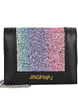 cheap -Women's Bags PU(Polyurethane) Shoulder Bag Sequin Rainbow / Brown / Silver
