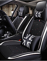 cheap -ODEER Car Seat Cushions Seat Covers Black / White Textile / Artificial Leather Common for universal All years All Models