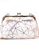cheap -Women's Bags PU(Polyurethane) Shoulder Bag Pattern / Print White / Black / Silver