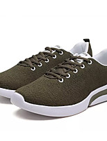 cheap -Men's Tulle Summer Comfort Sneakers Army Green / Red / Dark Green
