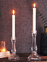 cheap -European Style Glasses Candle Holders Tealight / Candelabra 1pc, Candle / Candle Holder