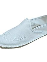 baratos -Homens sapatos Linho Outono Solados com Luzes Mocassins e Slip-Ons Bege / Cinzento / Amarelo Claro