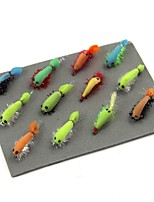 preiswerte -12 pcs Stück Fliegen / Angel Sets / Angel-Zubehör Fliegen Kohlestahl Einfach zu tragen / Licht und Bequem Seefischerei / Fliegenfischen / Köderwerfen