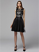 cheap -A-Line Boat Neck Short / Mini Tulle / Sequined Cocktail Party / Homecoming Dress with Sequin by TS Couture®