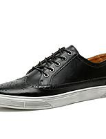 Недорогие -Муж. Полиуретан Лето Удобная обувь Кеды Темно-синий / Коричневый / Светло-серый