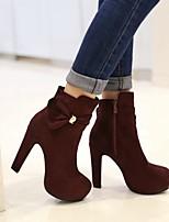 cheap -Women's Shoes Suede Winter Comfort Boots Stiletto Heel Black / Blue / Wine
