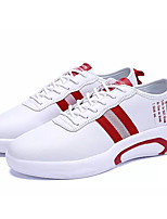 cheap -Men's PU(Polyurethane) Spring / Summer Comfort Sneakers White / Black / Red