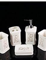 abordables -Set d'Accessoires de Salle de Bain Design nouveau / Mignon Moderne Céramique 5pcs - Salle de Bain Simple