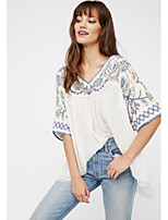 cheap -Women's Blouse - Solid Colored Print