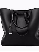 economico -Per donna Sacchetti PU Tote Set di borsa da 3 pezzi Cerniera Blu / Nero / Grigio