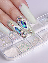 cheap -1 pcs Nail Glitter Retro Nail Art Tips Fashionable Design / Luminous Wedding Party / Daily Wear
