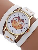 baratos -Xu™ Mulheres Bracele Relógio / Relógio de Pulso Chinês Criativo / Relógio Casual / Mostrador Grande PU Banda Casual / Fashion Preta / Branco / Vermelho