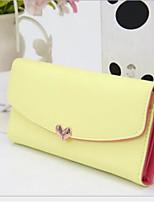 cheap -Women's Bags PU(Polyurethane) Wallet Zipper Light Green / Fuchsia / Coffee