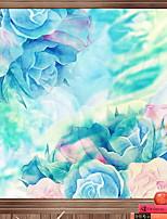 economico -Pellicola per finestre e adesivi Decorazione Florale Fantasia floreale PVC Anti-riflesso