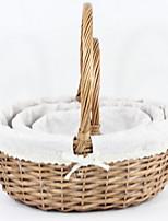 baratos -Armazenamento Simples Comum Madeira / Nãotecidos 1pç organização do banho