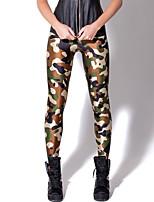 cheap -Women's Daily Sporty Legging - Geometric / Color Block Mid Waist