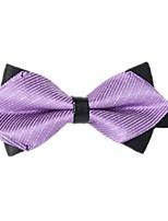 baratos -Unisexo Festa / Básico Gravata Borboleta - Laço Listrado / Estampa Colorida