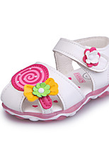 cheap -Girls' Shoes PU(Polyurethane) Summer Comfort / Light Soles Sandals Walking Shoes for Baby White / Pink