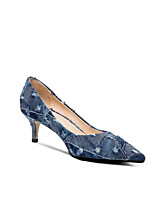 cheap -Women's Shoes Denim Spring & Summer Basic Pump Heels Stiletto Heel Pointed Toe Blue