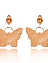 cheap -Women's Drop Earrings - Butterfly Sweet, Fashion Gold For Evening Party / Street