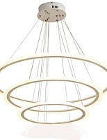 cheap -Oulm 3-Light Circular Chandelier Ambient Light - Dimmable, 110-120V / 220-240V, Dimmable With Remote Control, LED Light Source Included