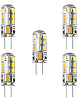 cheap -BRELONG® 5pcs 3 W 250 lm G4 LED Corn Lights / LED Bi-pin Lights T 24 LED Beads SMD 2835 Decorative Warm White / White 12 V