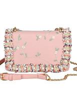 cheap -Women's Bags PU(Polyurethane) Shoulder Bag Pearls / Sashes / Ribbons Green / White / Blushing Pink