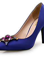 cheap -Women's Shoes Satin Spring & Summer Basic Pump Heels Stiletto Heel Pointed Toe Sparkling Glitter Black / Red / Royal Blue / Wedding / Party & Evening