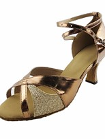 cheap -Women's Latin Shoes PU(Polyurethane) Heel Slim High Heel Dance Shoes Gold / Performance / Leather / Practice
