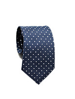 cheap -Men's Work / Basic Cotton / Polyester Necktie - Polka Dot / Color Block / Houndstooth / All Seasons