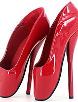 Недорогие -Жен. Обувь Полиуретан Весна лето Оригинальная обувь Обувь на каблуках На шпильке Круглый носок Белый / Черный / Красный / Для вечеринки / ужина