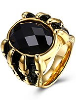 cheap -Men's Synthetic Sapphire Band Ring - Fashion 7 / 8 / 9 Gold For Party / Daily