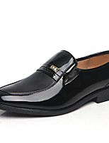 cheap -Men's Shoes Faux Leather Summer Comfort Loafers & Slip-Ons Black