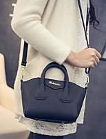 cheap -Women's Bags PU(Polyurethane) Shoulder Bag Zipper Black / Red / Gray