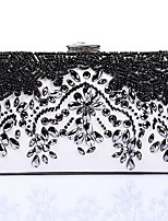 cheap -Women's Bags Terylene Evening Bag Crystals / Pearls Black