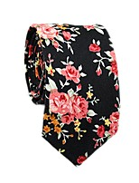 cheap -Men's Party / Basic Cotton / Polyester Necktie - Floral / Color Block / All Seasons
