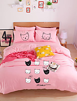 cheap -Duvet Cover Sets Cartoon Polyster Printed 4 Piece