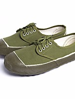 cheap -Men's Espadrilles Canvas Spring &  Fall Sneakers Army Green