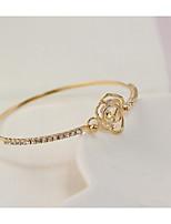 cheap -Women's Single Strand Tennis Bracelet - Flower Sweet, Fashion Bracelet Gold / Silver For Party / Date